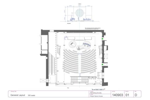Architect's plan of The Royal Opera House